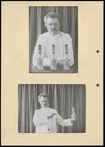 "Image: Photographs for an advertisement and ""user manual"" showing Tillema and his Hygeia water bottles, 1924-1932 (reference number: RV-A440-z-6)"