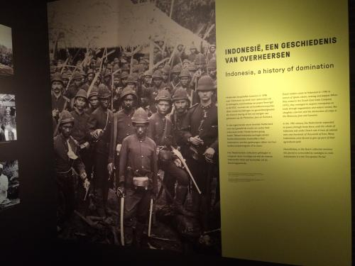Figure 2: Part of the Indonesia exhibition, Tropenmuseum Amsterdam. Author's own photograph.